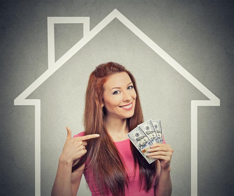 家庭、お金、人々 の概念